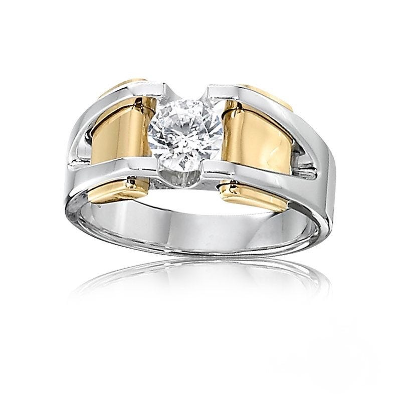 IBGoodman Men's 14k White & Yellow Gold Mounting