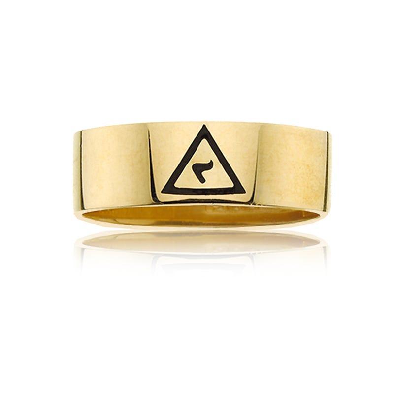 IBGoodman Men's 14th Degree Scottish Rite Ring in 10k Yellow Gold
