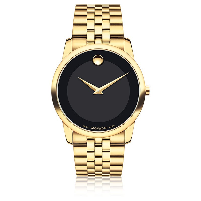 Movado Men's Museum Classic® Black Dial Yellow PVD Watch 606997