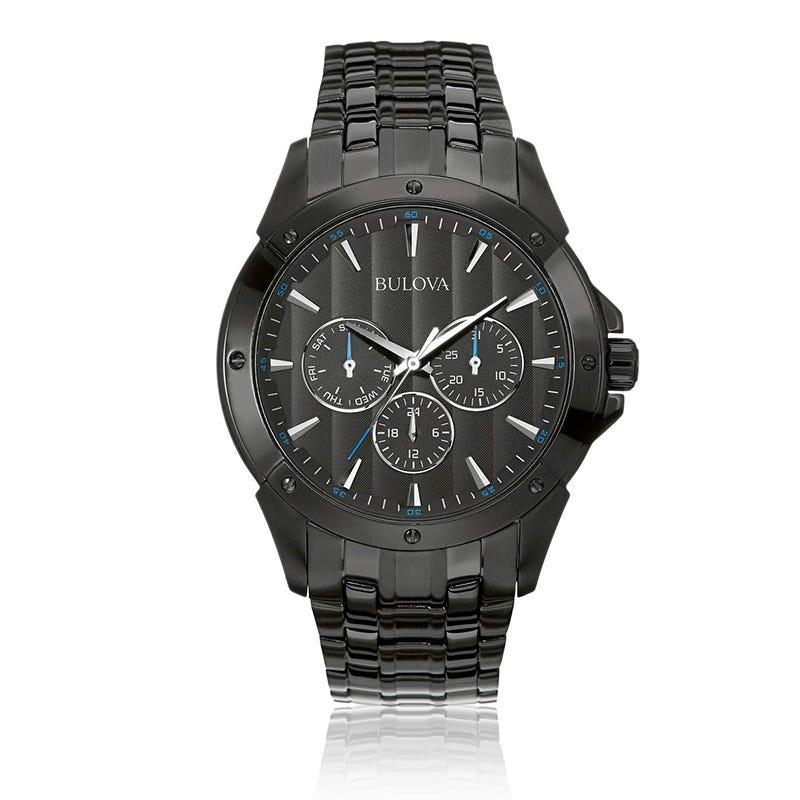 Bulova Men's Classic Chronograph Black Bracelet Watch
