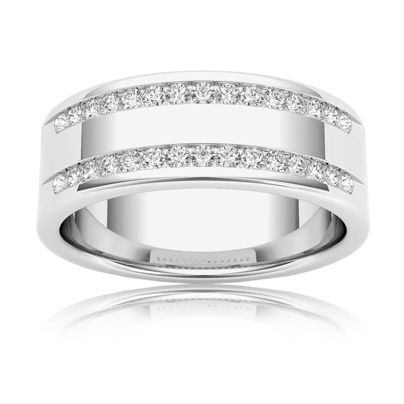 Men's Diamond ½ Carat Band in 14k White Gold