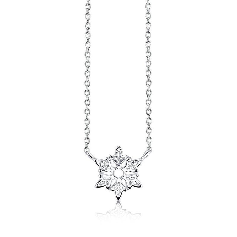 DISNEY© Frozen Snowflake Necklace in Sterling Silver