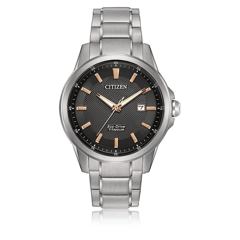 Citizen® Men's Sport Titanium Rose Gold Accent Bracelet Watch 42mm AW1490-50E