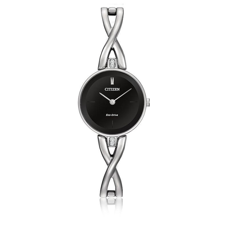 Citizen® Ladies Eco-Drive Stainless Steel Bangle Bracelet Watch 23mm EX1420-50E
