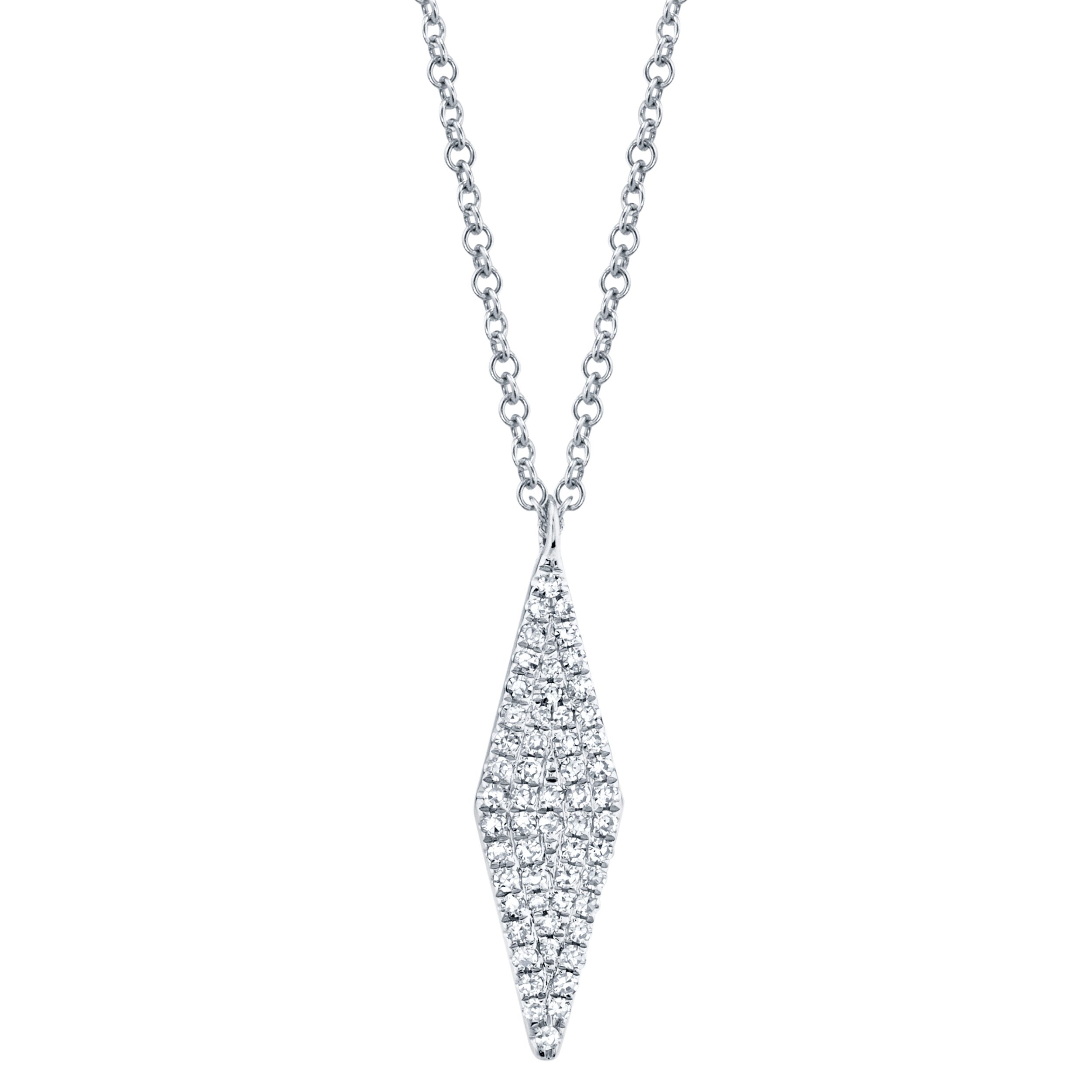 Shy Creation Diamond Kite Cluster Pendant in 14k White Gold SC55001716