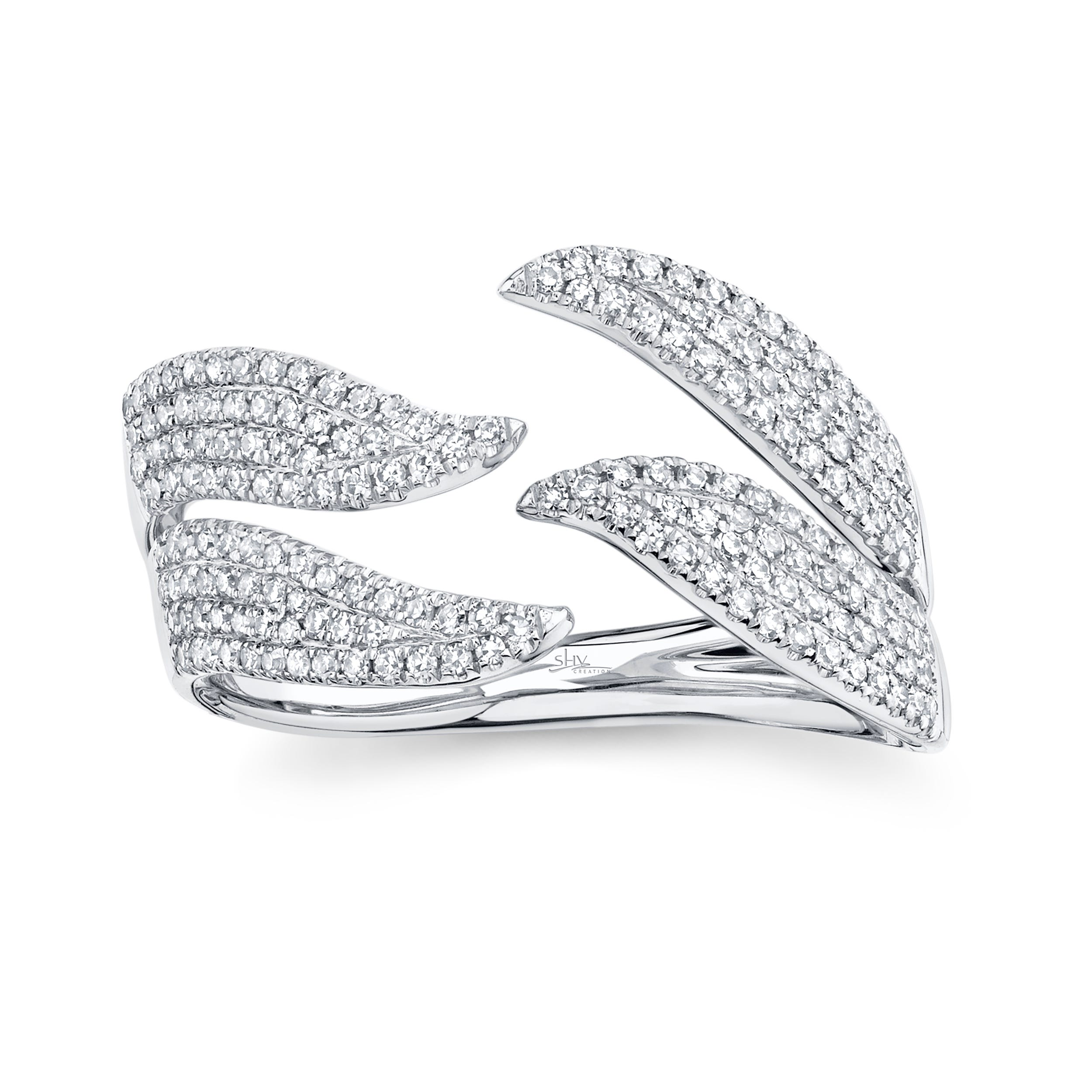 Shy Creation Diamond ½ct. Open Wave Wrap Fashion Ring 14k White Gold SC55002187