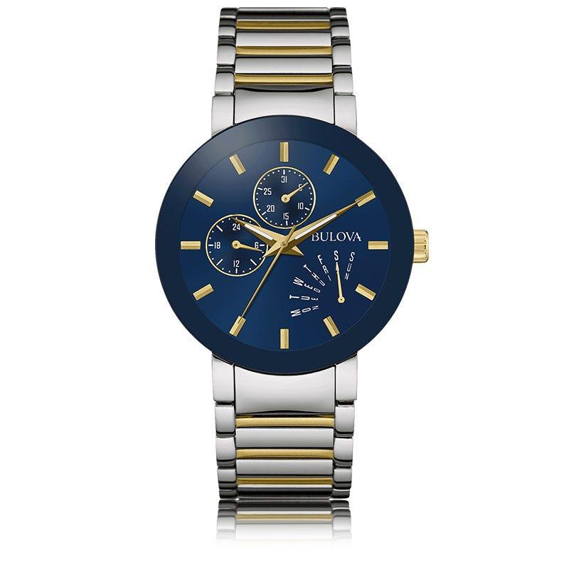 Bulova Men's Two-Tone Stainless Steel Bracelet Watch 40mm 98C123