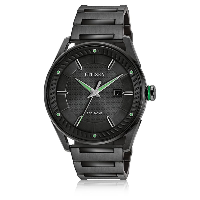Citizen Men's Drive Black Ion-Plated Bracelet Watch BM6985-55E