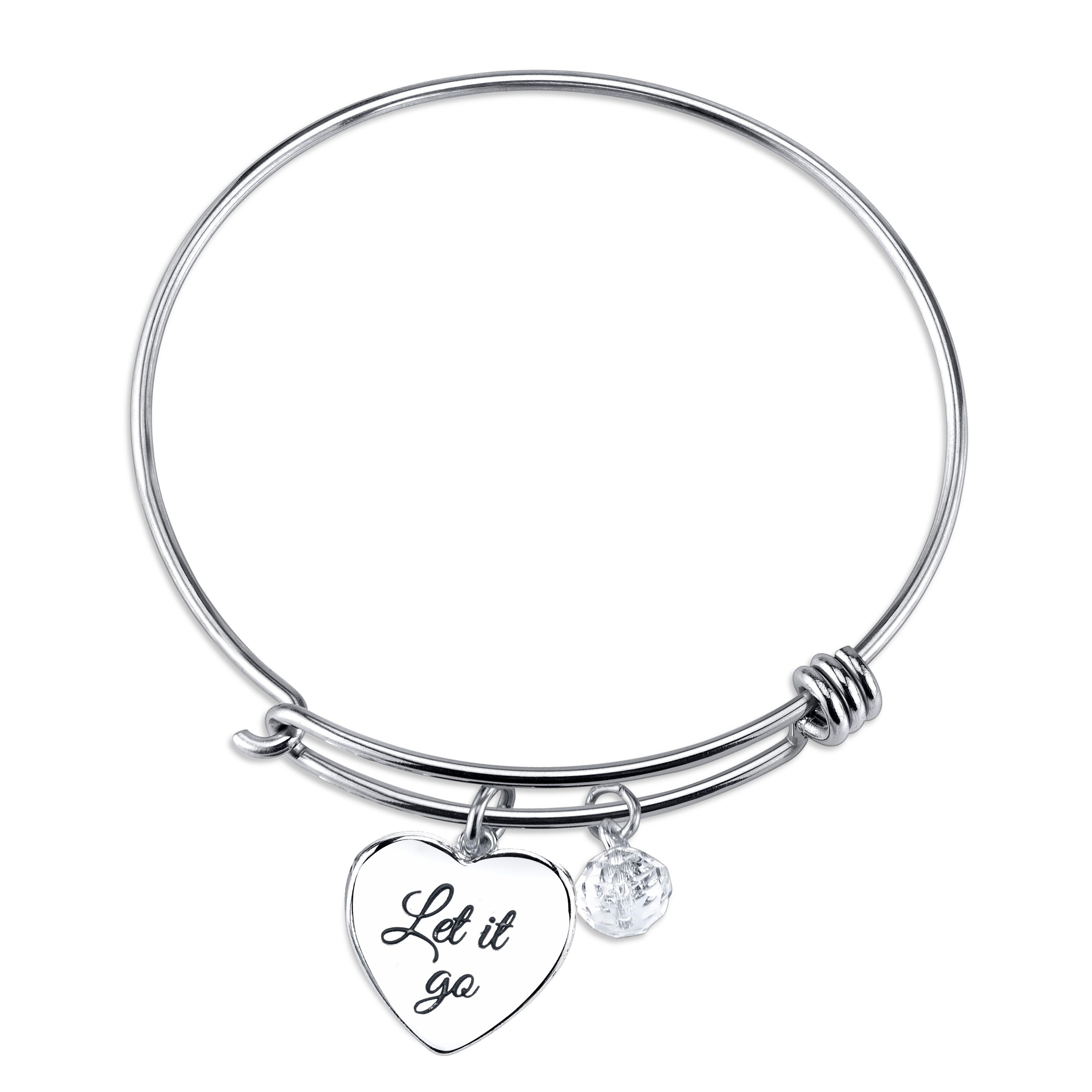 DISNEY© Frozen Crystal Snowflake Expandable Sterling Silver Bangle