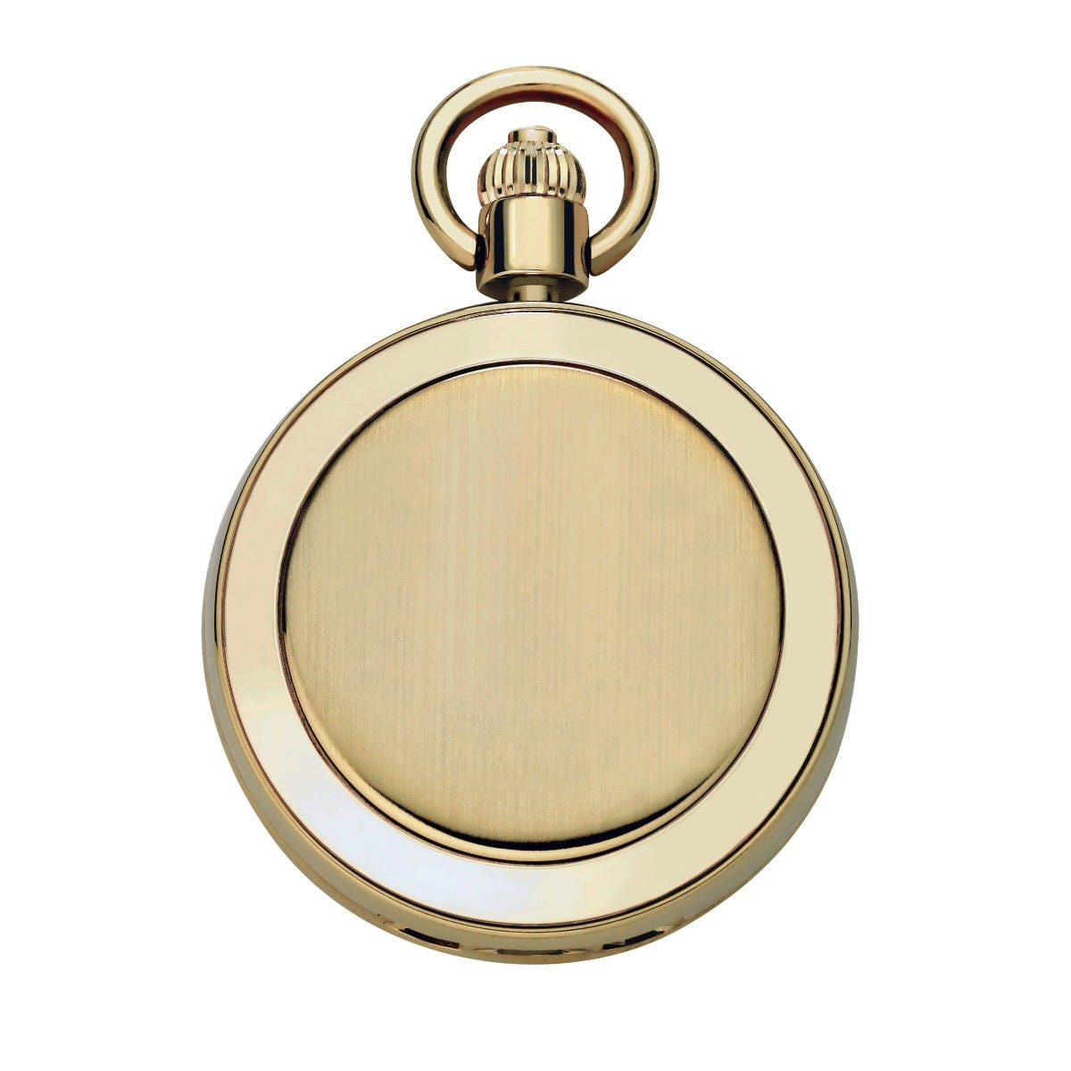 Satin & Polished Bezel Pocket Watch