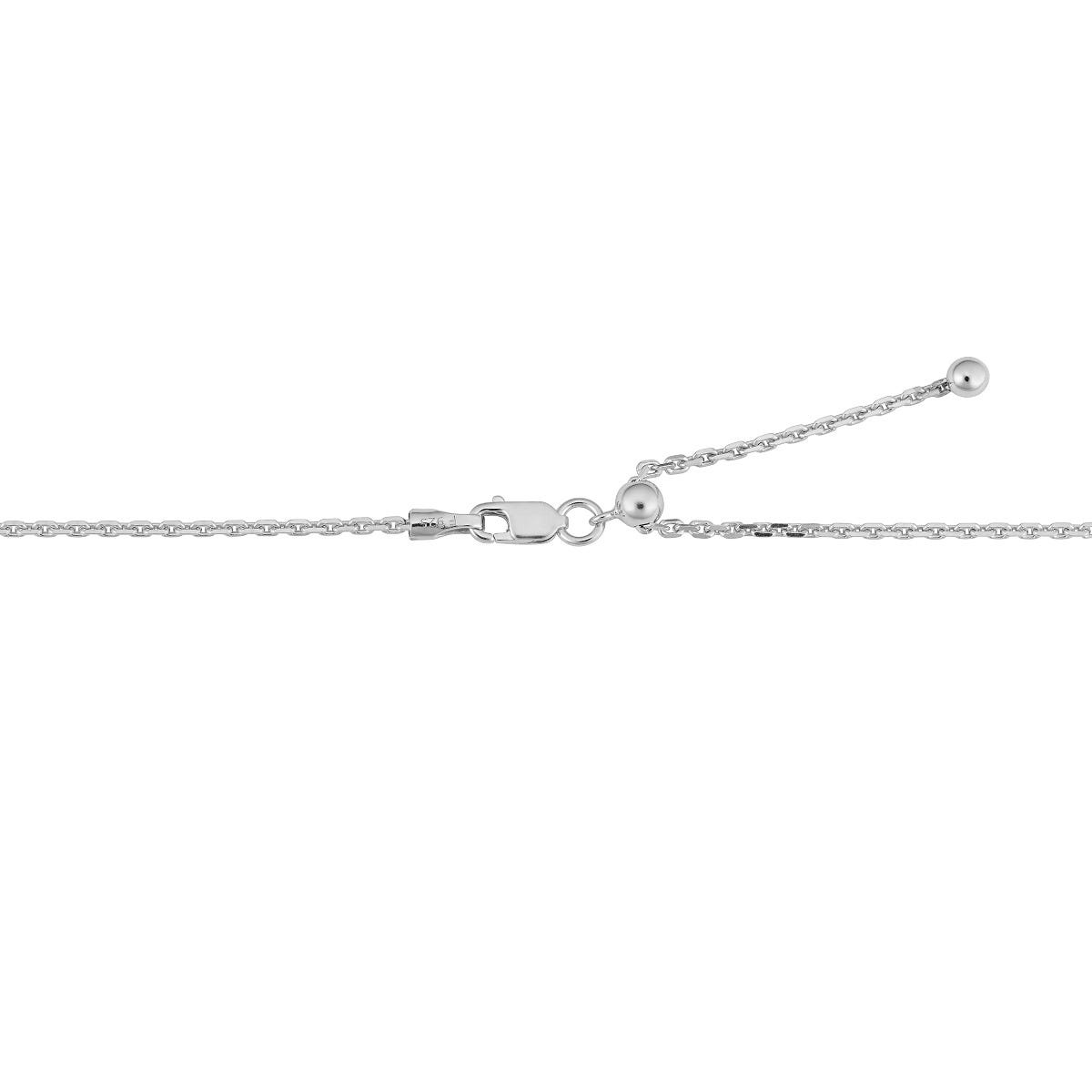 Multistrand Adjustable Necklace in Sterling Silver