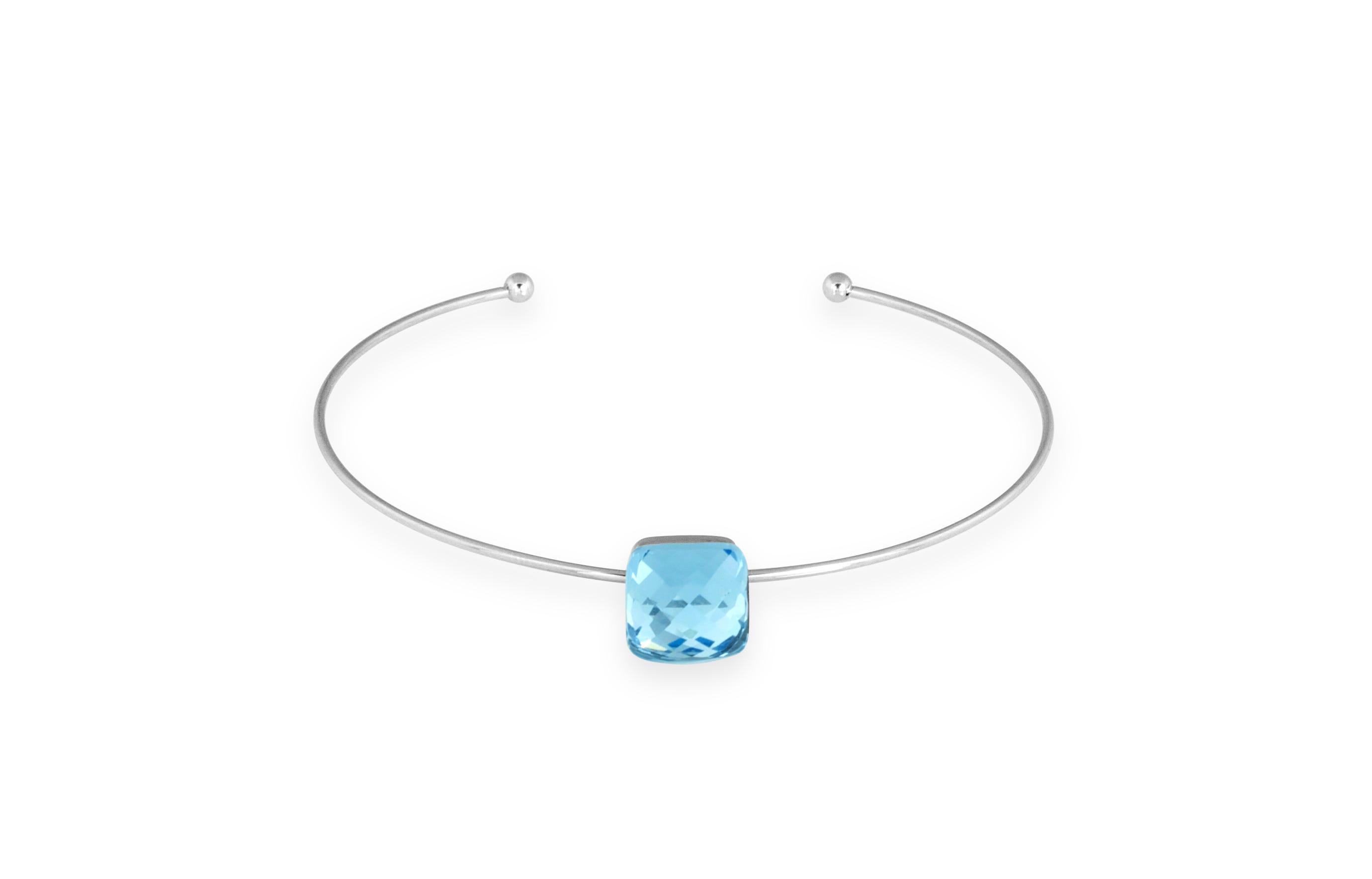 Lavender Glass Bangle Bracelet