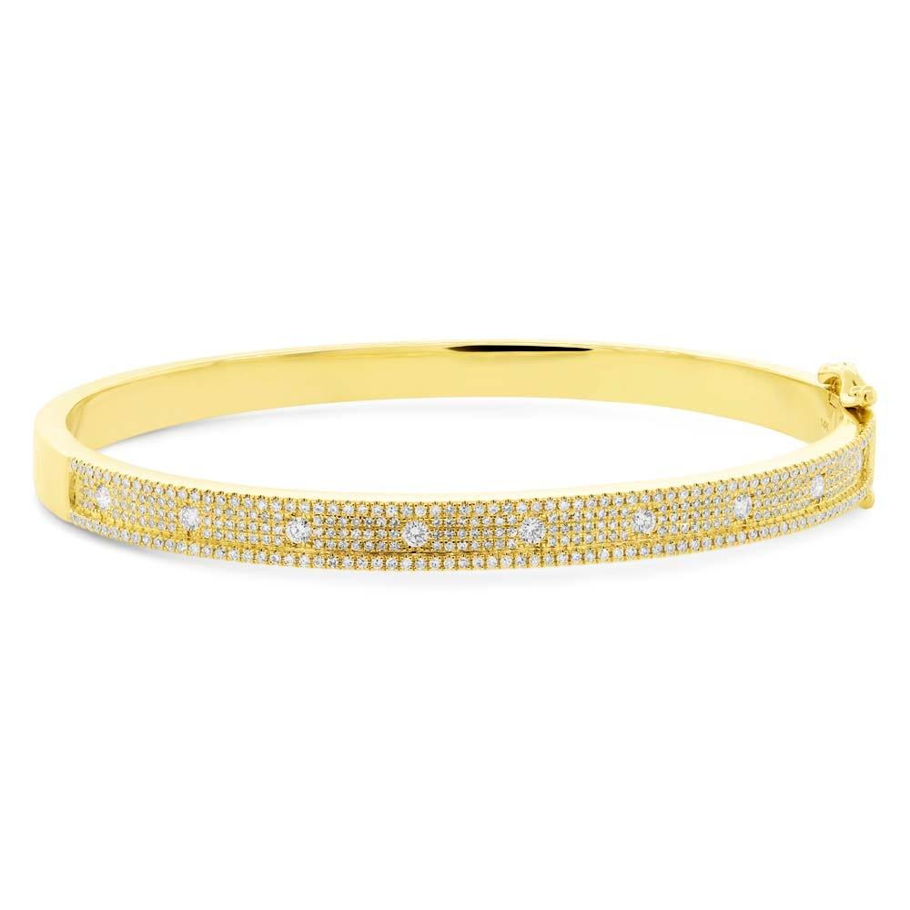 Shy Creation Diamond 1-1/2ctw. Bangle Bracelet in 14k Yellow Gold SC55004237ZS