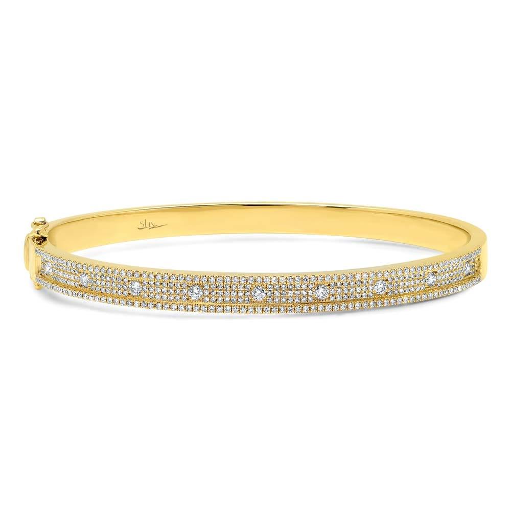 Shy Creation Diamond 1ctw. Bangle Bracelet in 14k Yellow Gold SC55004237V2ZS