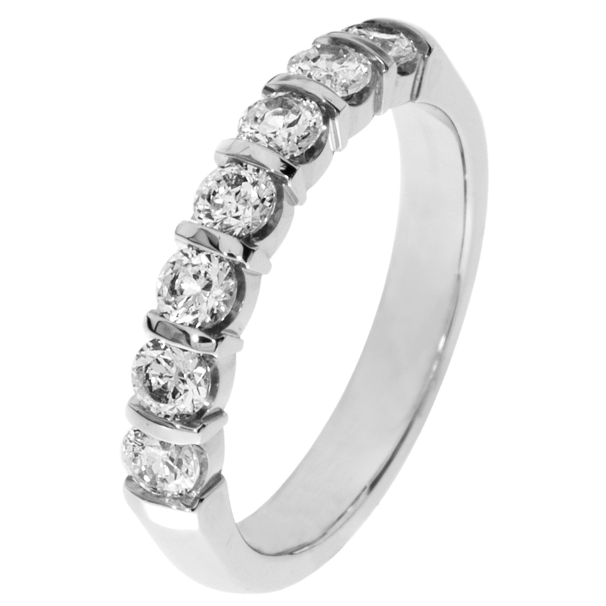 7-Stone Diamond Band 3/4ctw. (H-I, I1) Platinum