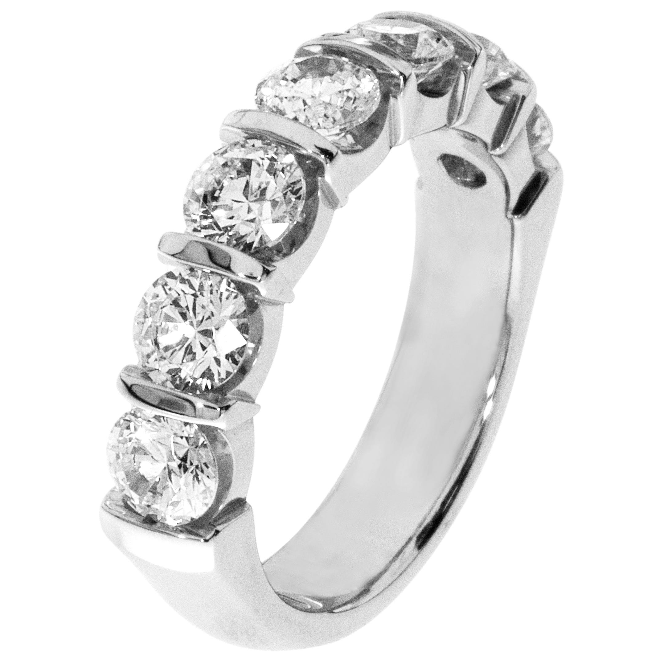 7-Stone Diamond Band 2ctw. (G-H, SI) 14K White Gold