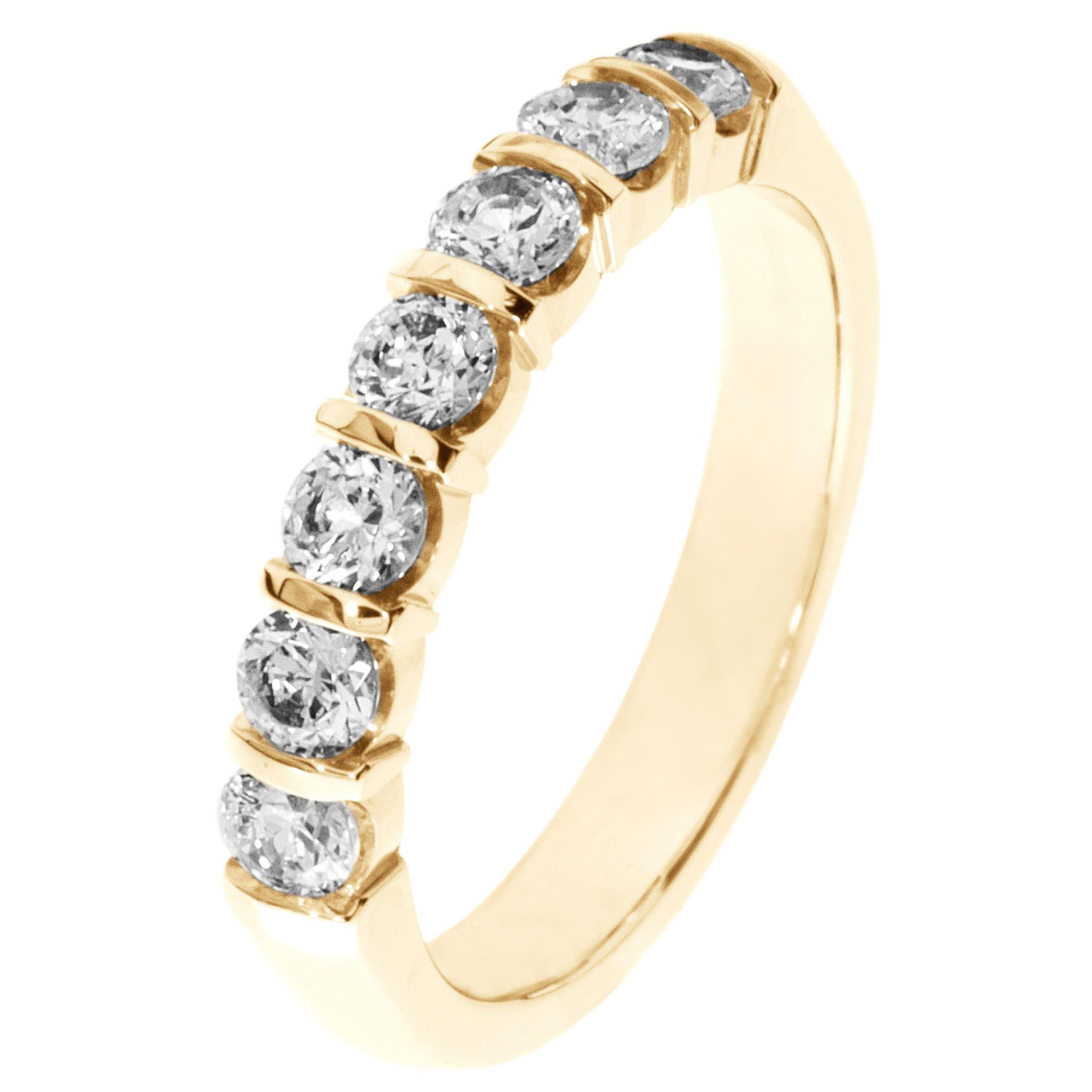 7-Stone Diamond Band 3/4ctw. (G-H, SI) 18K Yellow Gold