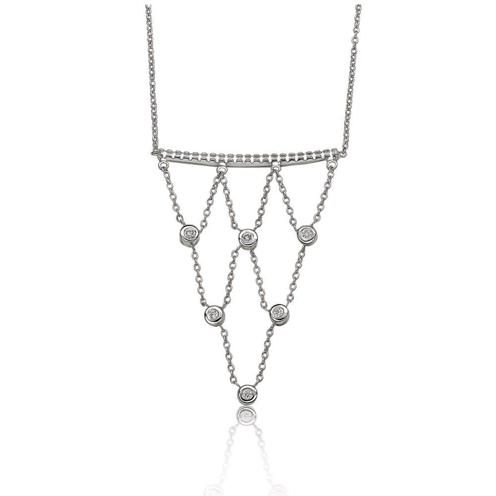 Brilliant-Cut Diamond Fashion Necklace in Sterling Silver