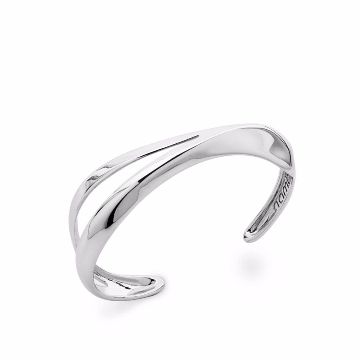 Split Peak Cuff in Sterling Silver