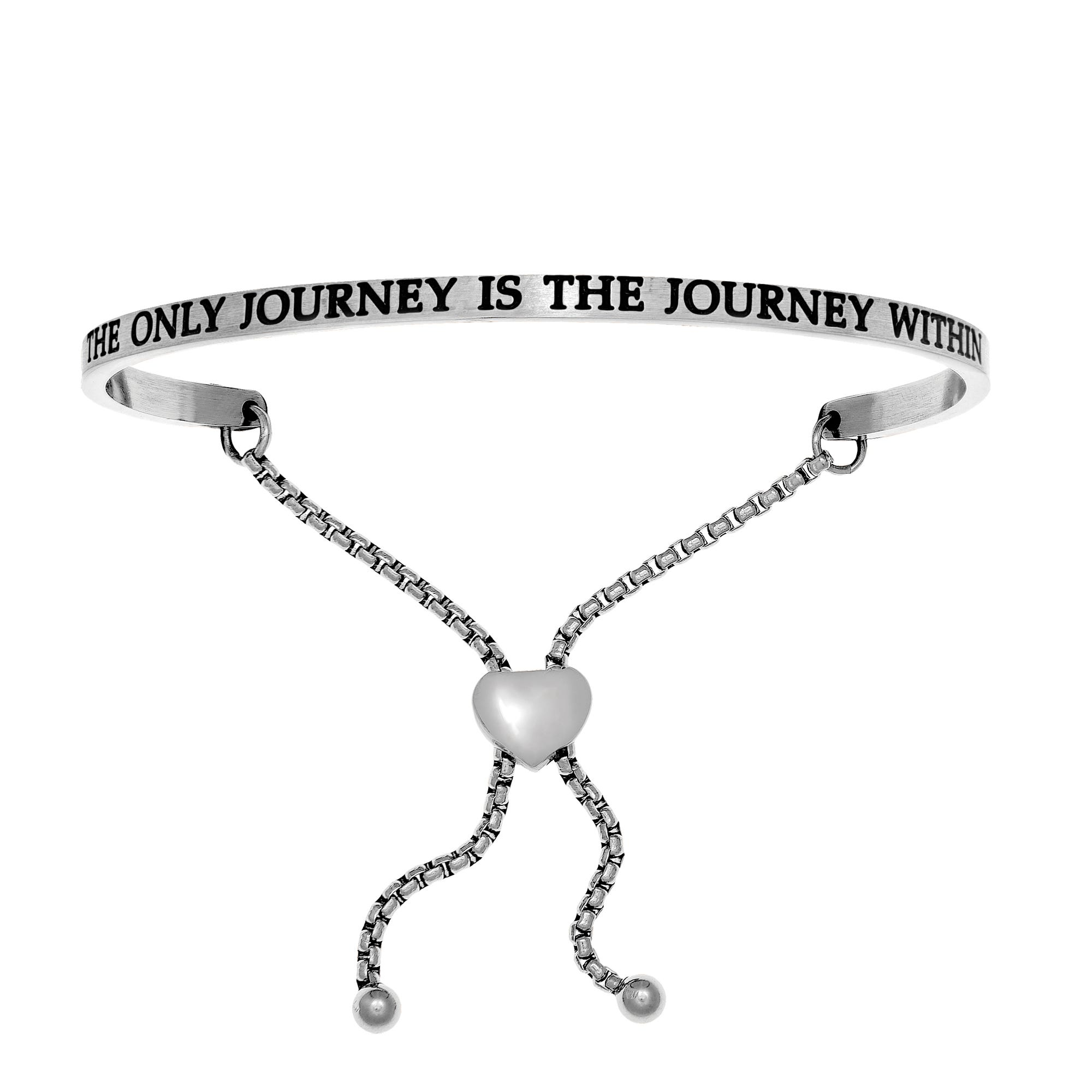 The Journey Within. Intuitions Bolo Bracelet in White Stainless Steel