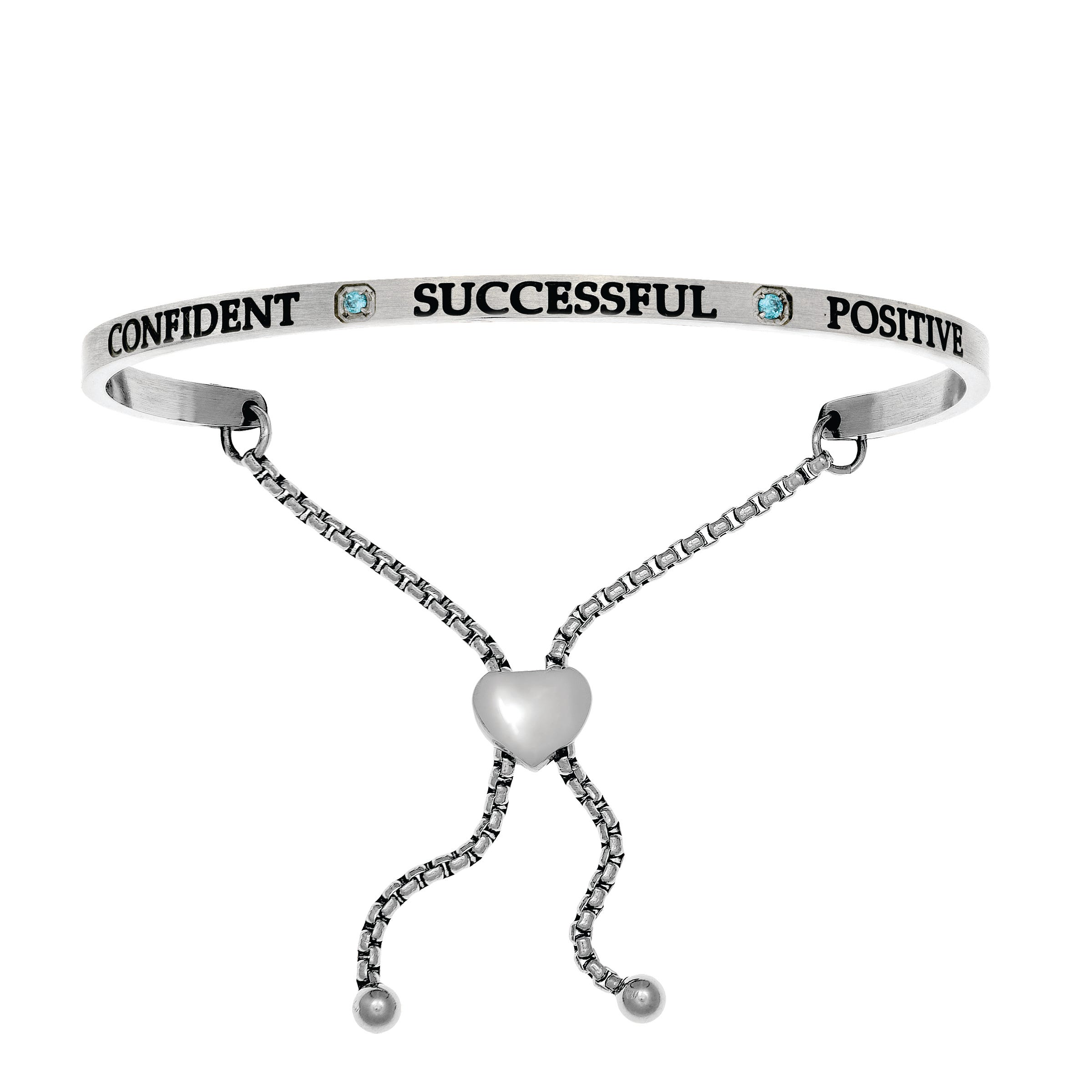 Confident & Successful December. Intuitions Bolo Bracelet in White Stainless Steel