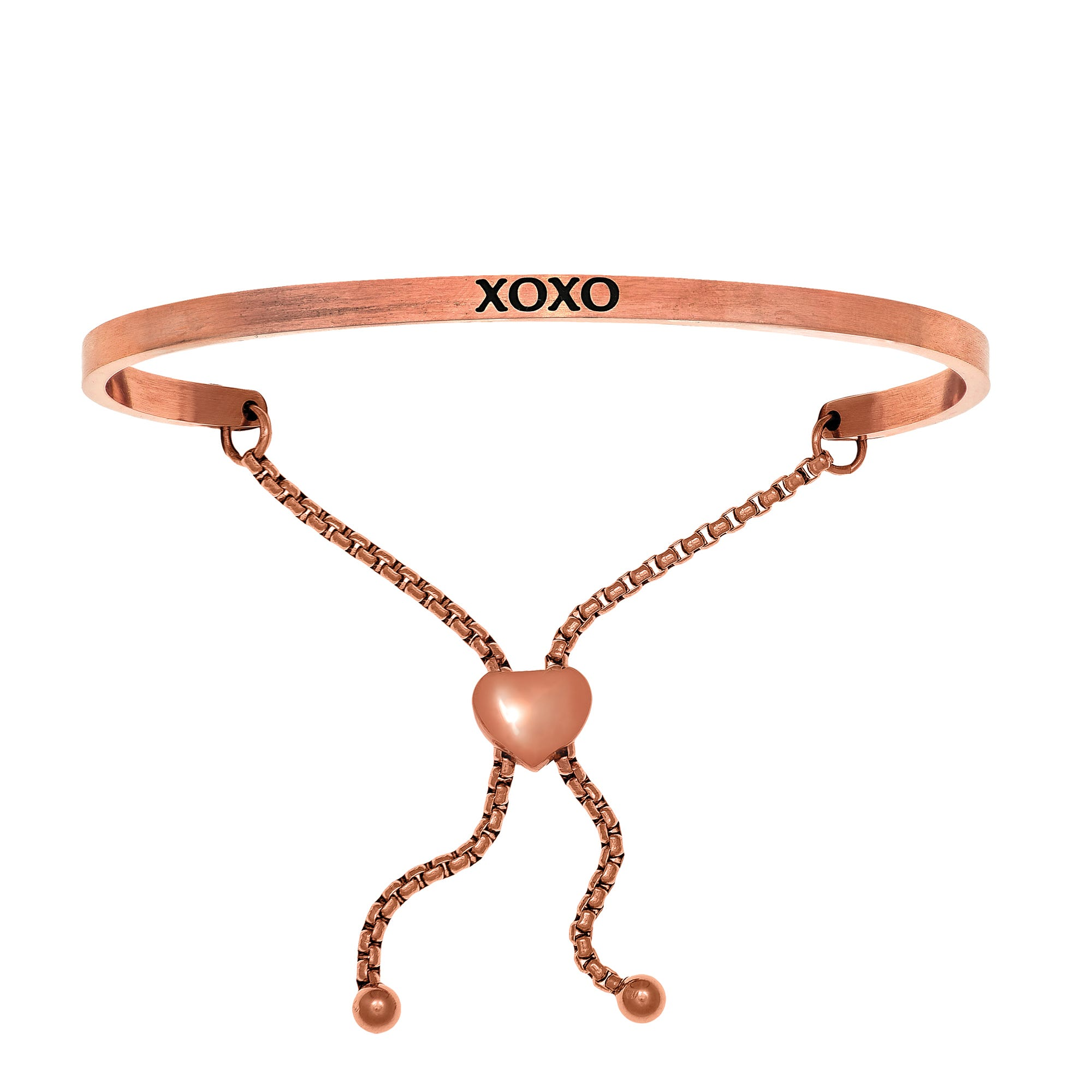 XOXO. Intuitions Bolo Bracelet in Pink Stainless Steel