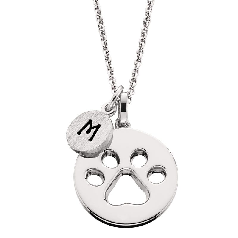 Paw Print Mommy Chic Pendant in Sterling Silver