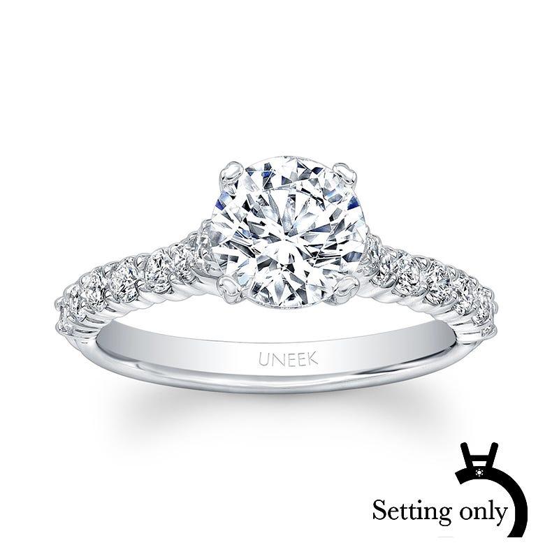 Uneek Unity 1/2ctw. Diamond Solitaire Semi-Mount in 14K White Gold