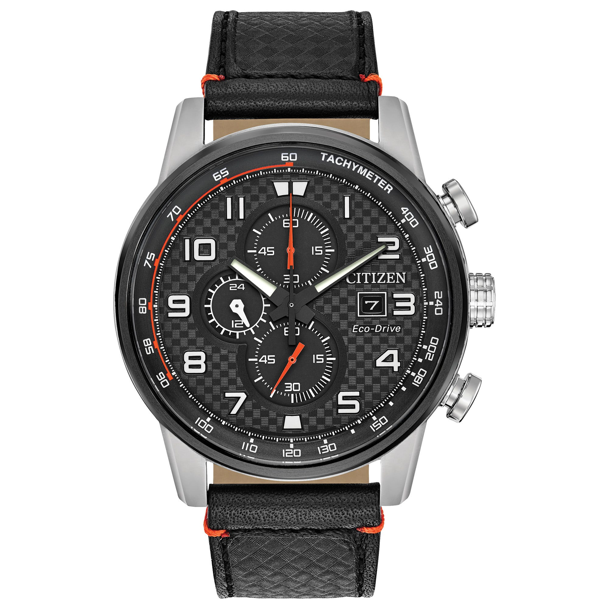 Citizen Men's Eco-Drive Primo Black Leather Watch CA0681-03E
