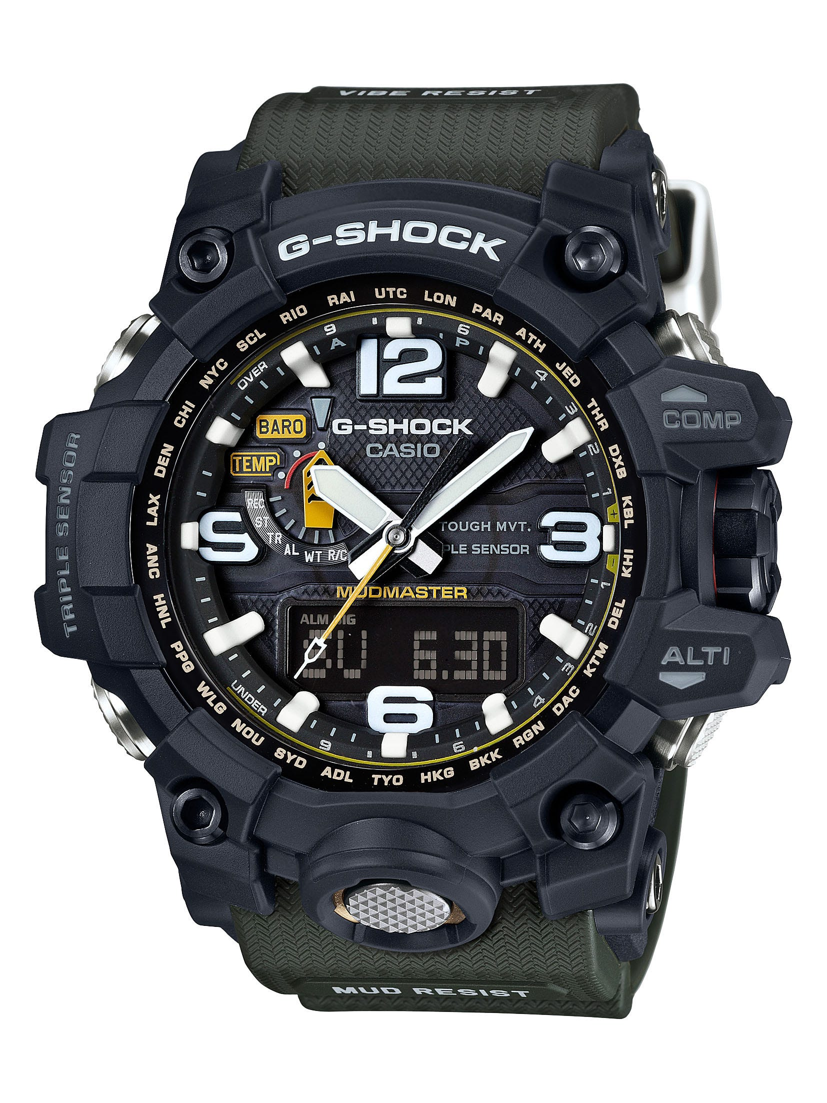 G-Shock Mudmaster World Time AT Multifunction Watch GWG1000-1A3