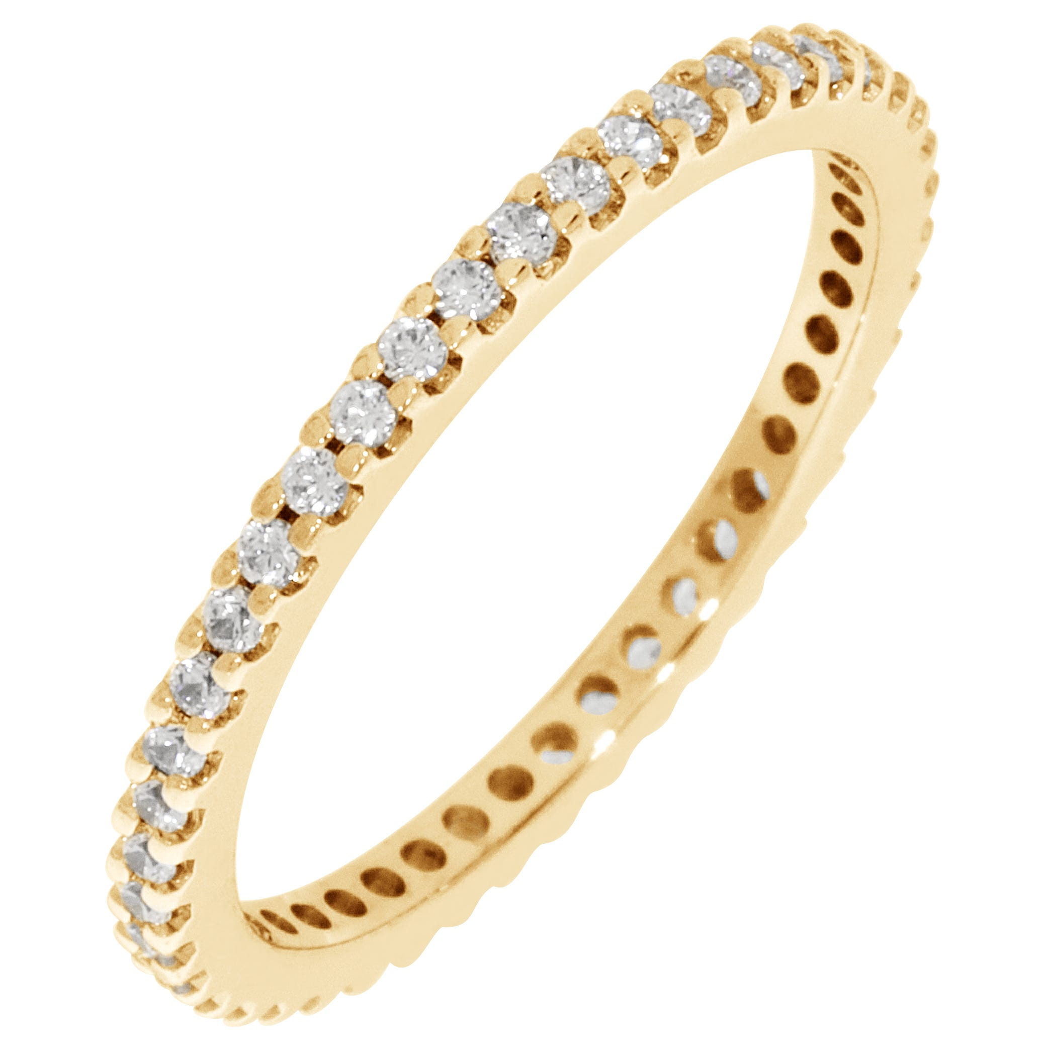 Round Prong Set 1/3ctw. Eternity Band in 18K Yellow Gold (FGKHI, I1)