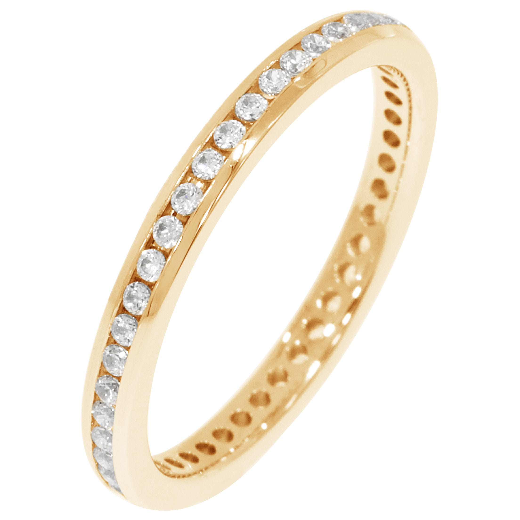 Round Channel Set 1/3ctw. Eternity Band in 18K Yellow Gold (GH, SI)