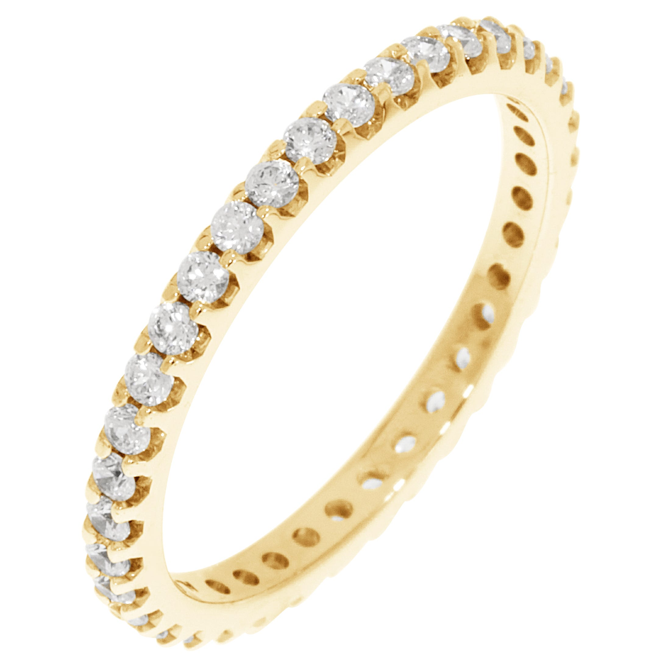 Round Prong Set 1/2ctw. Eternity Band in 14K Yellow Gold (GH, SI2)