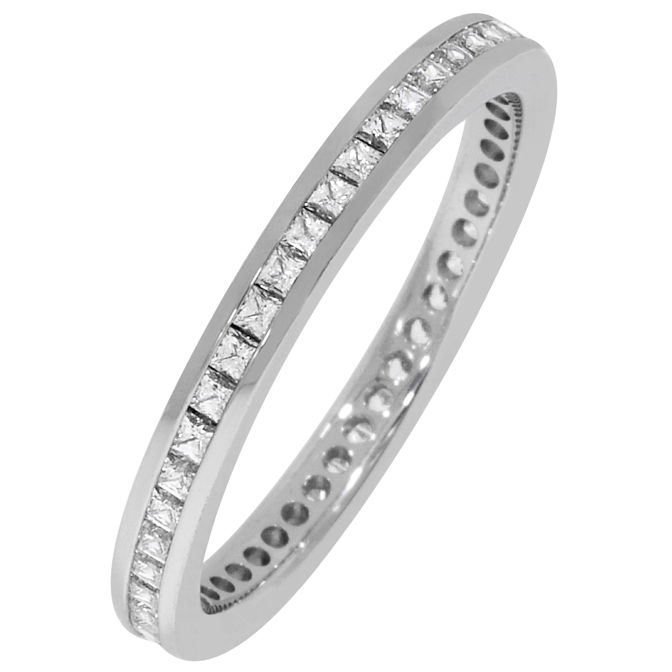 Princess Channel Set 1/2ctw. Eternity Band in 14K White Gold (GH, SI)