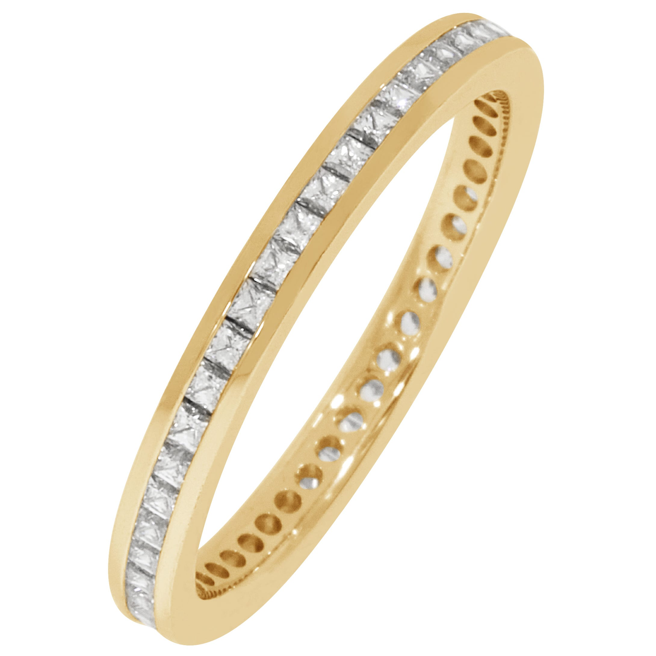 Princess Channel Set 1/2ctw. Eternity Band in 14K Yellow Gold (GH, SI)
