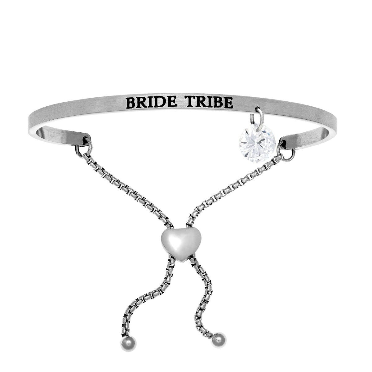 Bride Tribe. Intuitions Bolo Bracelet in White Stainless Steel