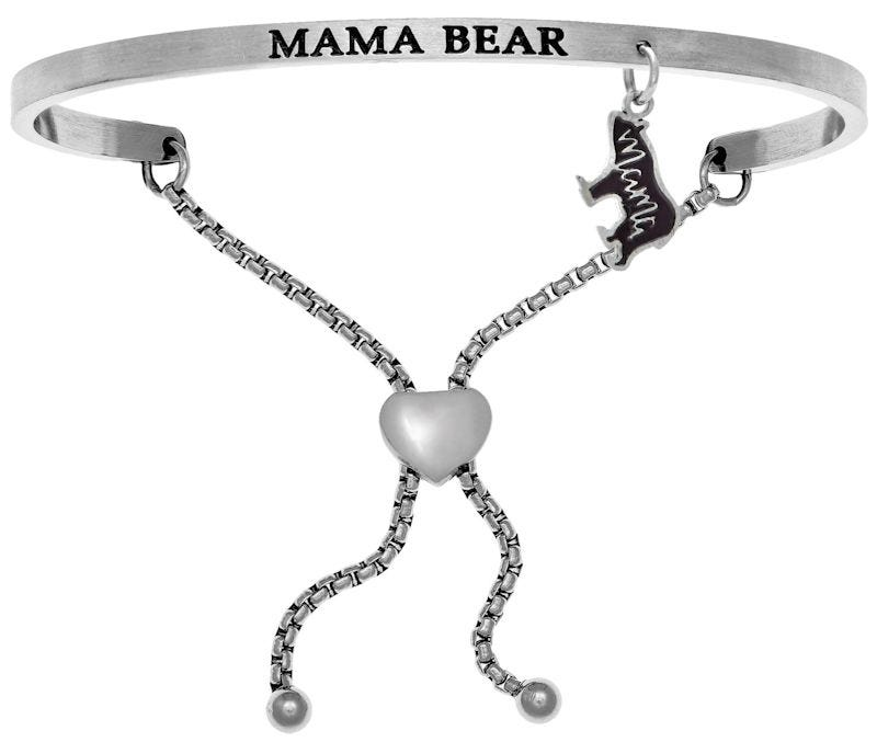 Mama Bear. Intuitions Bolo Bracelet in White Stainless Steel