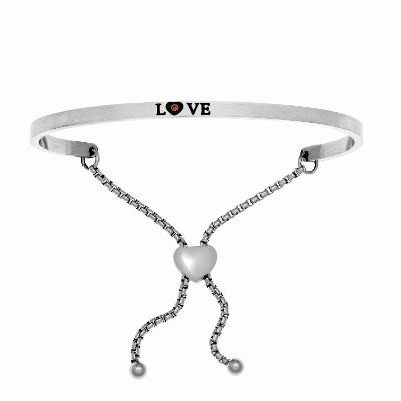 Love. Intuitions Bolo Bracelet in White Stainless Steel
