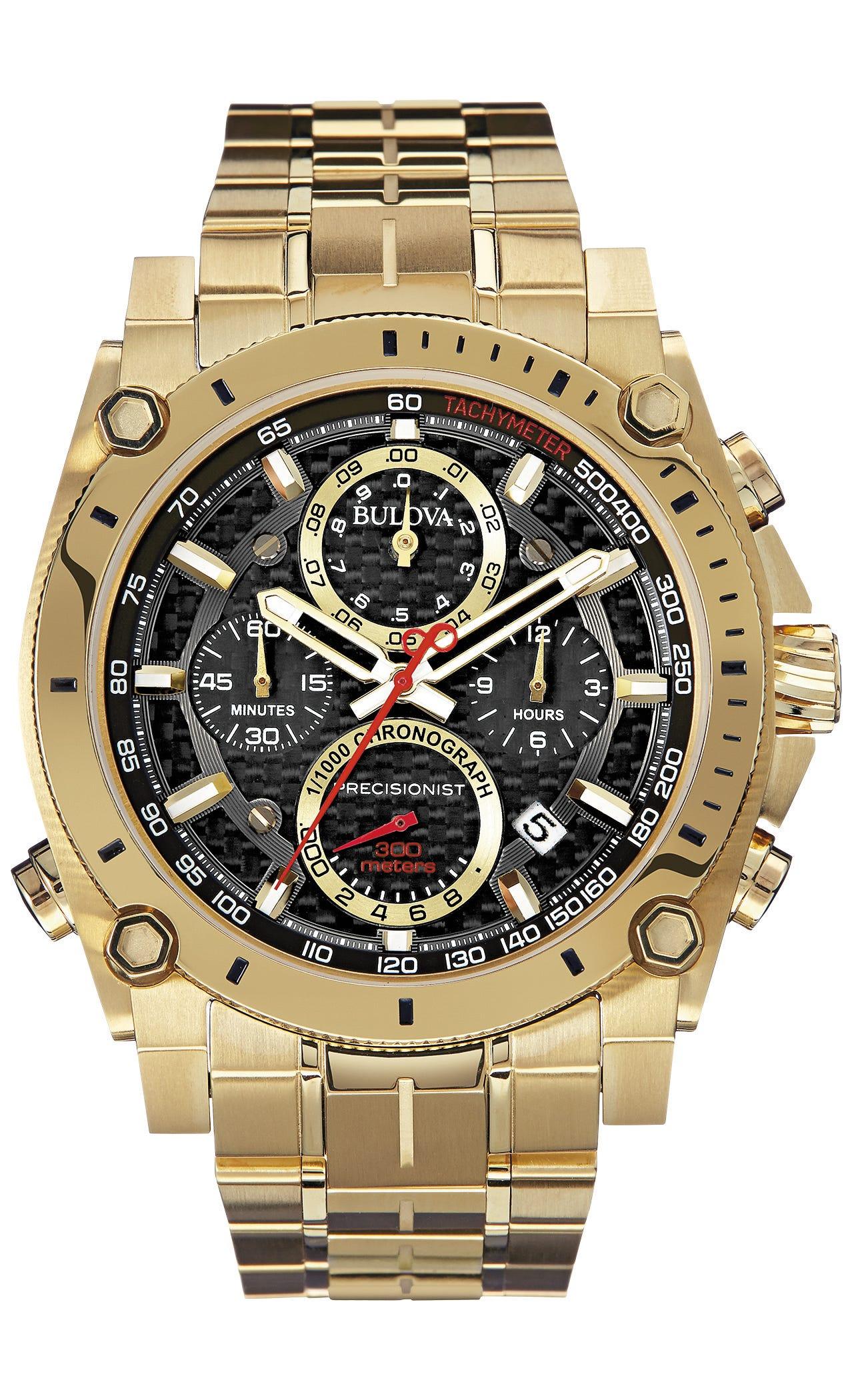 Bulova Men's Precisionist Gold Tone Watch 97B138