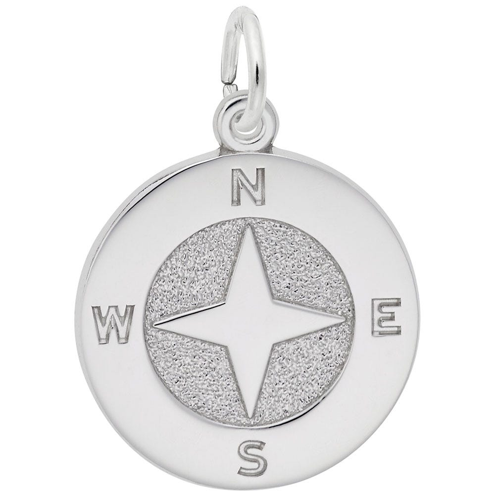 Compass Sterling Silver Charm