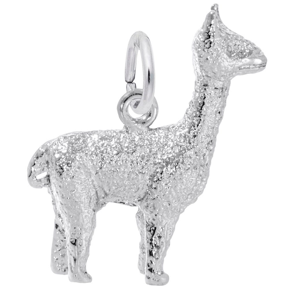 Alpaca Sterling Silver Charm