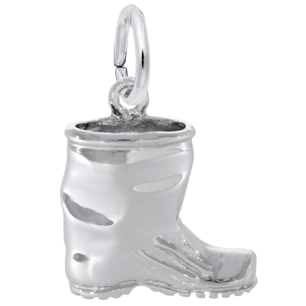 Rubber Boot Sterling Silver Charm