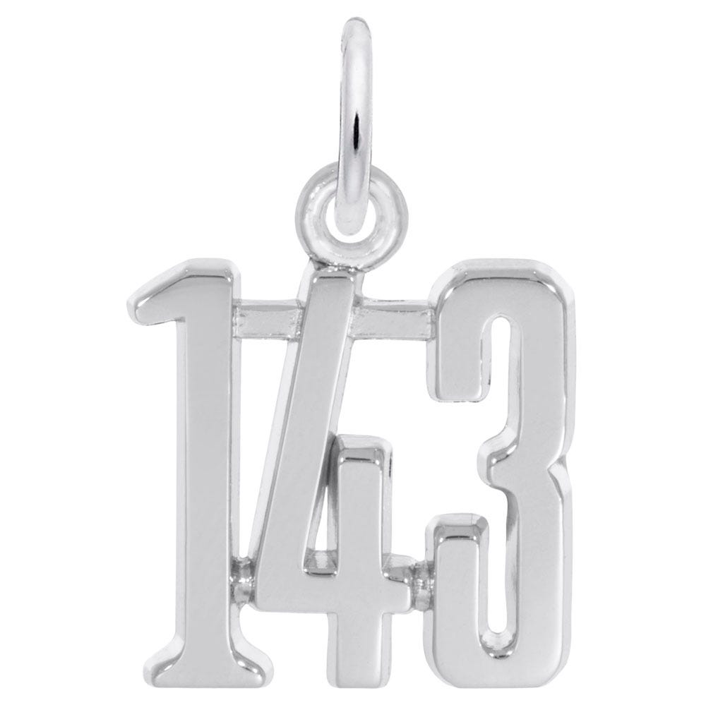 I Love you 1-4-3 Sterling Silver Charm