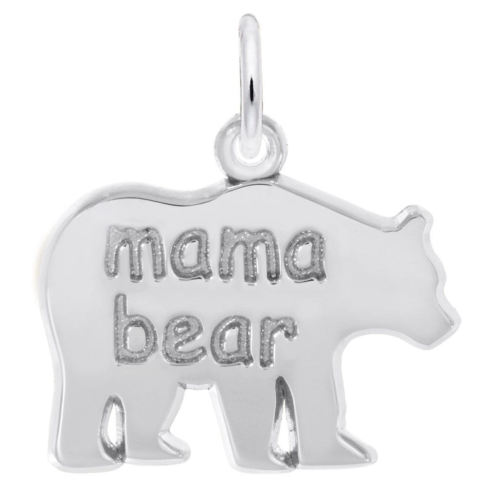 Mama Bear Sterling Silver Charm