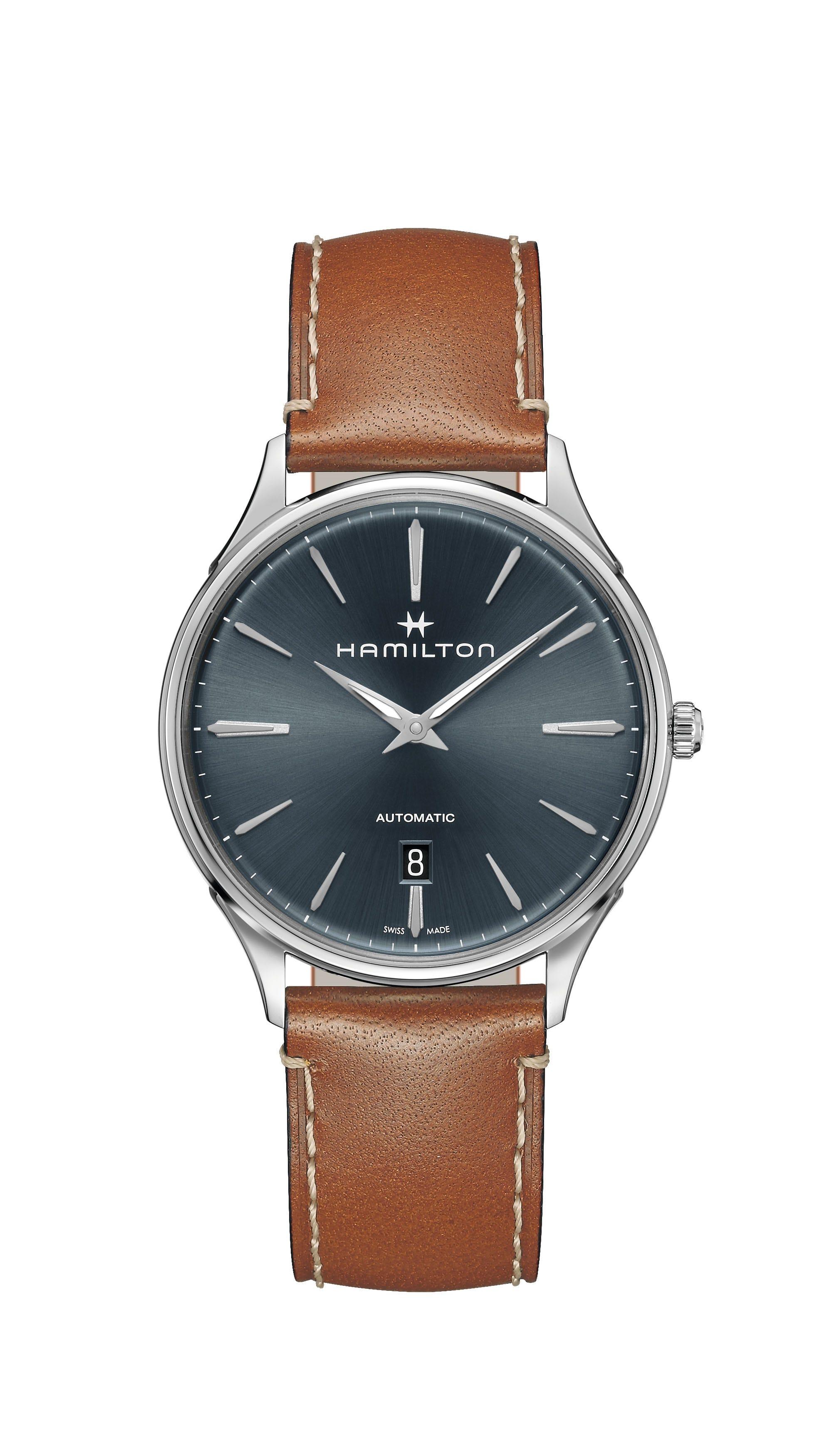 Hamilton Men's Blue Jazzmaster Thinline Automatic 40mm Watch H38525541