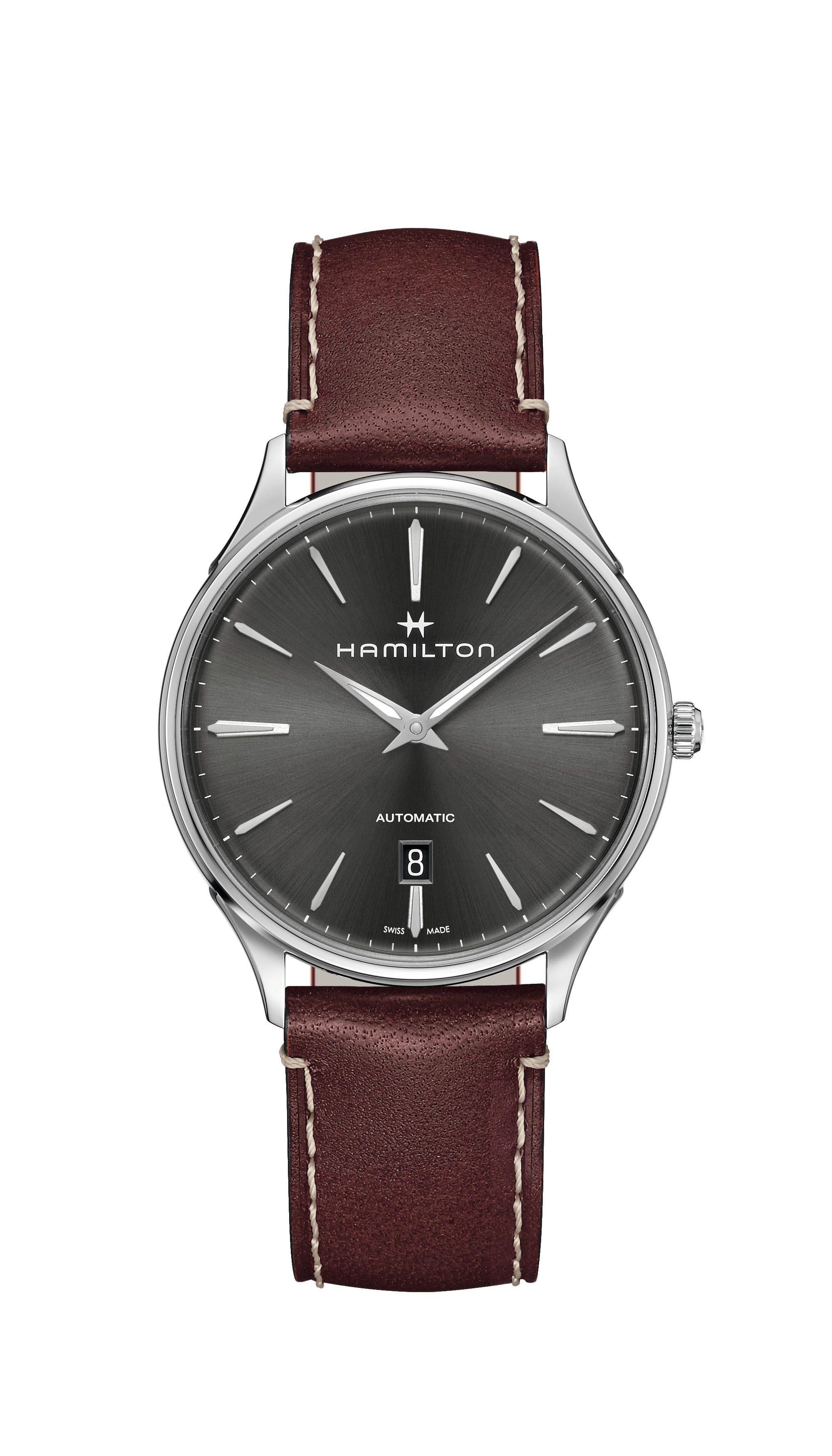 Hamilton Men's Black Jazzmaster Thinline Automatic 40mm Watch H38525881