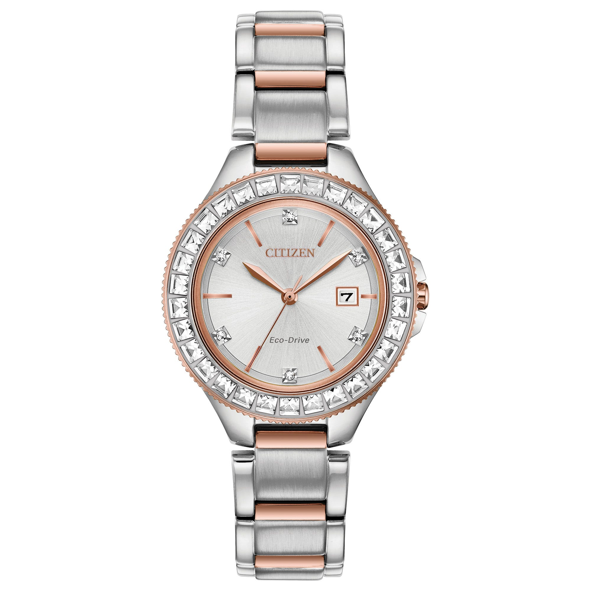 Citizen Ladies' Silhouette Stainless Steel Swarovski® Crystal 31mm Watch FE1196-57A
