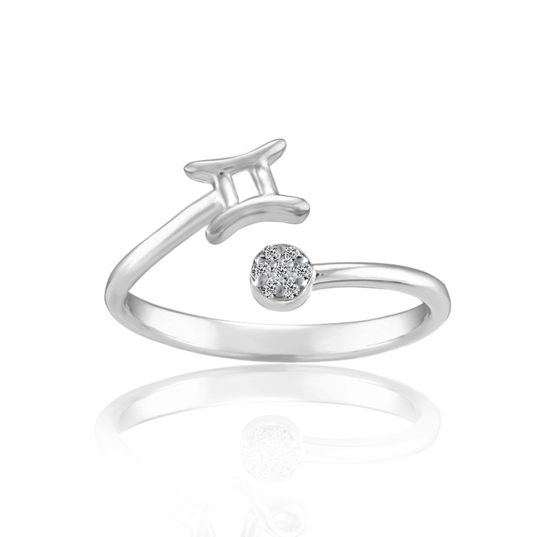 Zodiac Gemini Fashion Ring in Sterling Silver