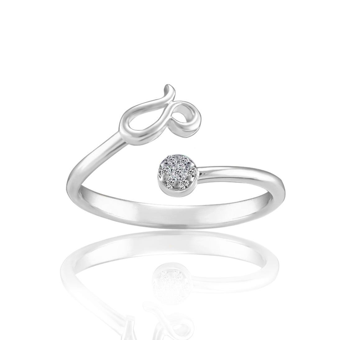 Zodiac Diamond Leo Fashion Ring in Sterling Silver