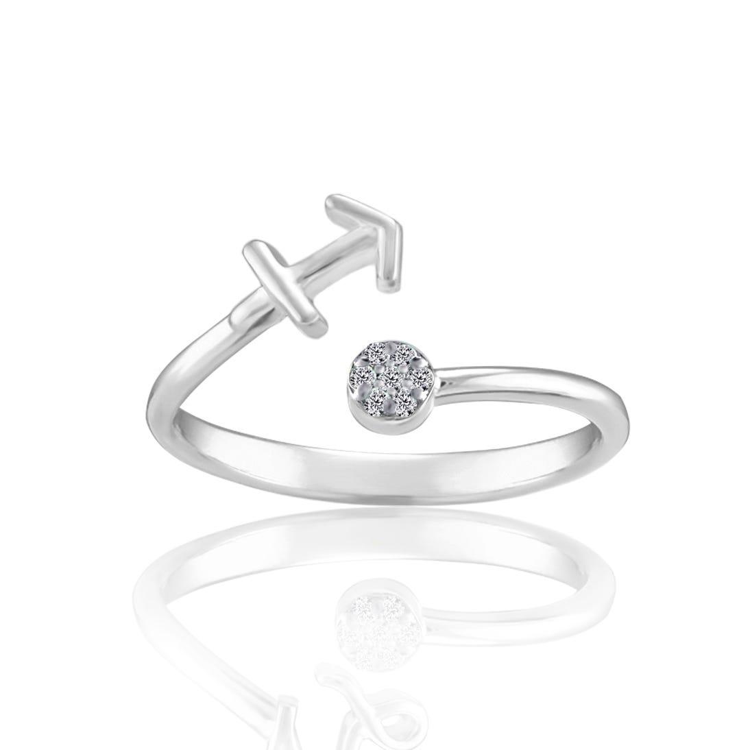 Zodiac Diamond Sagittarius Fashion Ring in Sterling Silver
